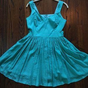 Blue cut-out dress!